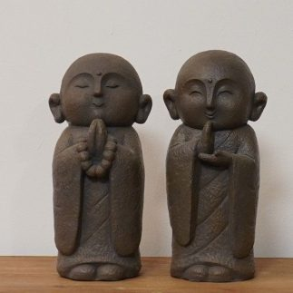 זוג פסלוני נזירים – MONK כהה