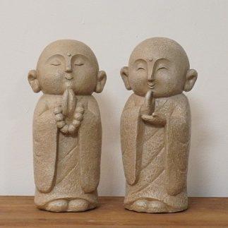 זוג פסלוני נזירים – MONK בהיר
