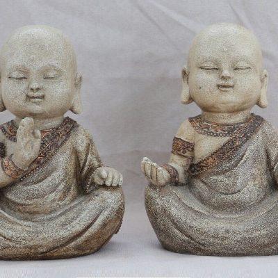 זוג פסלוני נזירים - Monje