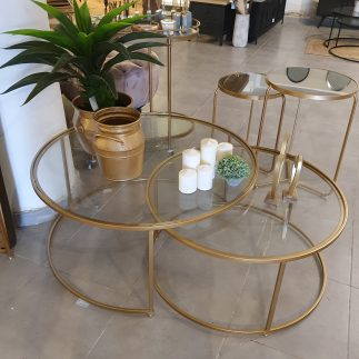 זוג שולחנות – DOUBLE CLICK זהב