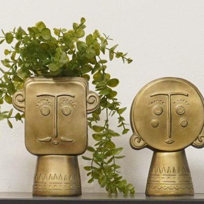 זוג אגרטלים - WE זהב