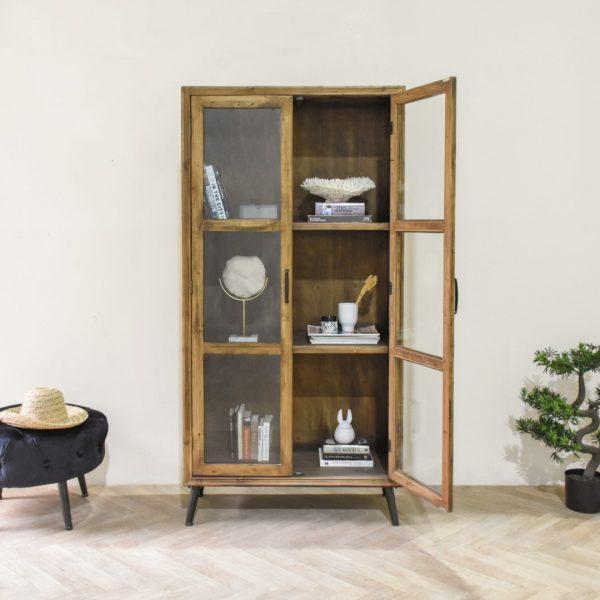 ויטרינה מעוצבת מעץ אורן - AUSTIN XL