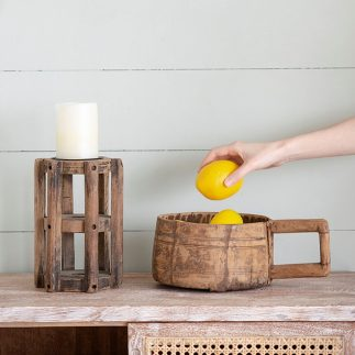 קערת עץ עם ידית – LOGI