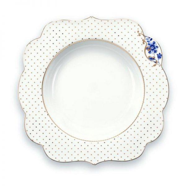 6 צלחות מרק/סלט  23.5 ROYAL WHITE