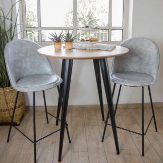 כיסא בר – OSLO אפור בהיר