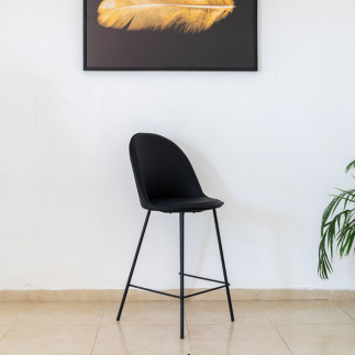כיסא בר – OSLO שחור