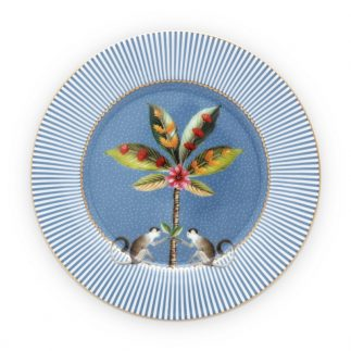 """6 צלחות קוטר 17 ס""""מ LA MAJORELLE כחול"""