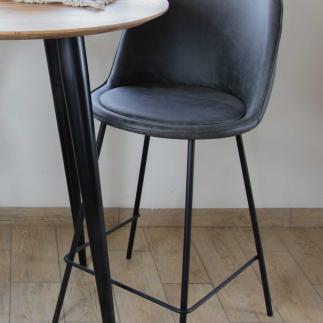 כיסא בר – OSLO אפור כהה
