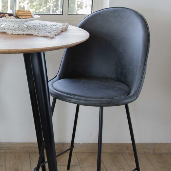 כיסא בר - OSLO אפור כהה