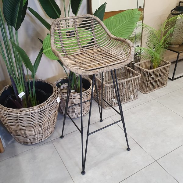 כיסא בר ראטן - MAMA