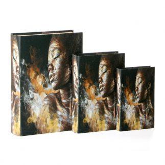 שלישיית ספרים ספרים לאחסון ונוי – AFRICANA