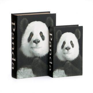 זוג ספרים לאחסון ונוי – PANDA