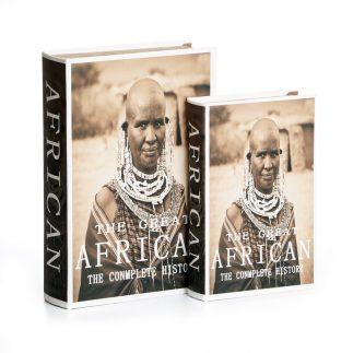 זוג ספרים לאחסון ונוי – AFRICA