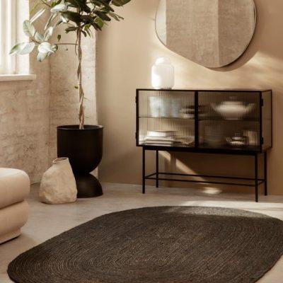 שטיח - ANINA אובלי שחור