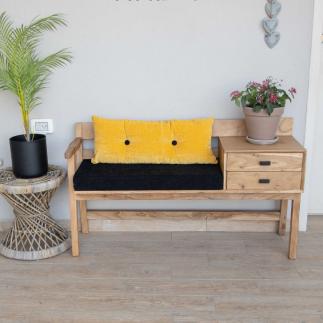 ספסל נפתח – ARTA כריות שחור – צהוב