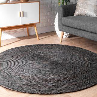 שטיח – ANINA עגול שחור גדול/ענק