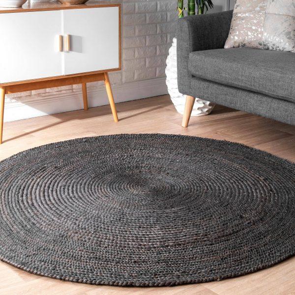 שטיח - ANINA עגול שחור גדול/ענק