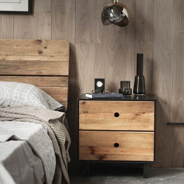 שידה לחדר שינה מעץ מלא  - WELDIND