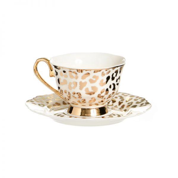 סט 6 כוסות תה/קפוצ'ינו + תחתית - MIKA