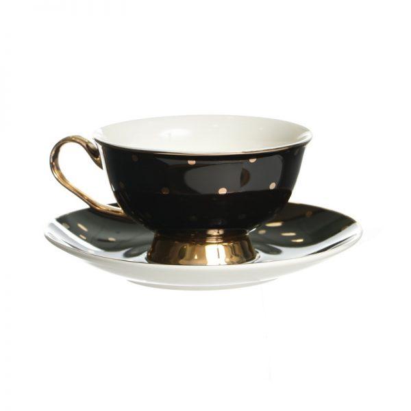 סט 6 כוסות תה/קפוצ'ינו + תחתית - LIKA