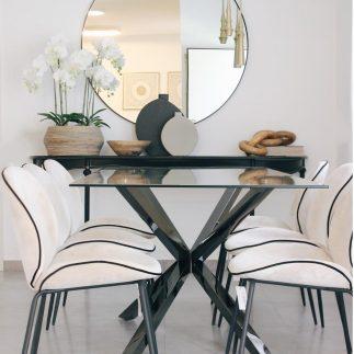 שולחן אוכל – FINEST שחור טיטניום
