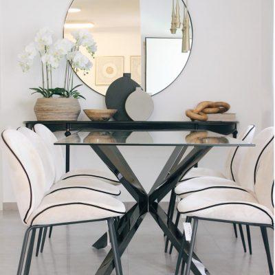 שולחן אוכל - FINEST שחור טיטניום
