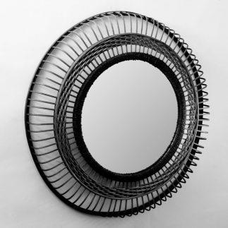 מראת ראטן 1112 טבעי/שחור
