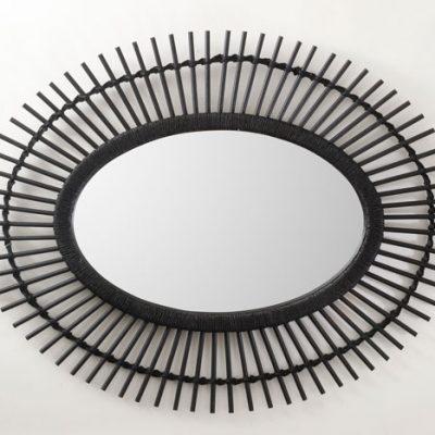 מראת ראטן 1116 טבעי/שחור