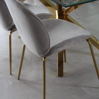 כיסא אוכל – VIVI אפור