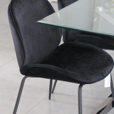 כיסא אוכל - VELVA שחור