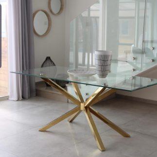 שולחן אוכל – FINEST זהב
