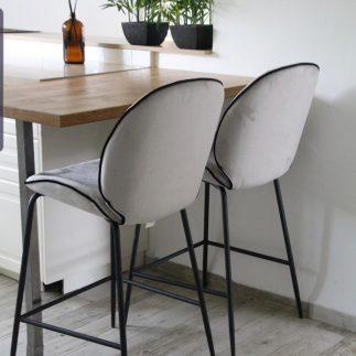 כיסא בר – VIVA אפור