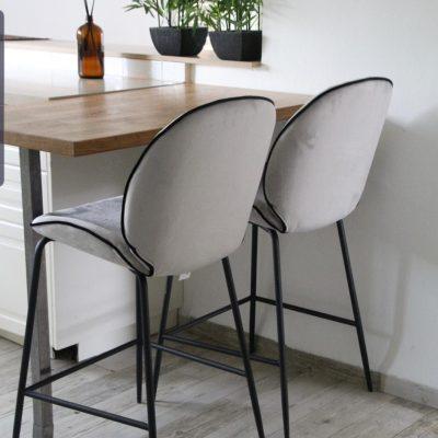כיסא בר - VIVA אפור