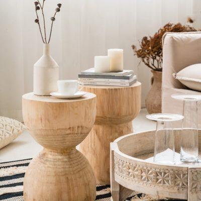 שולחן צד/שידה לחדר שינה מעץ מלא  - YOLO