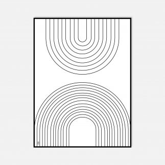 פרינט דיגיטלי ממוסגר בשחור לבן – ARCO