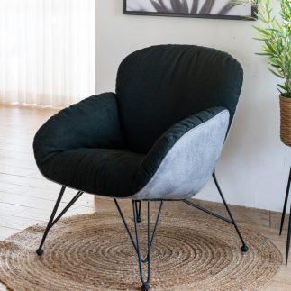 כורסא מעוצבת בצבע שחור – PUFFY