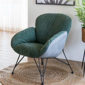 כורסא מעוצבת בצבע ירוק – PUFFY