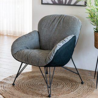 כורסא מעוצבת בצבע אפור – PUFFY