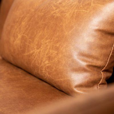 ספה מבד דמוי עור חום - WINCHESTER