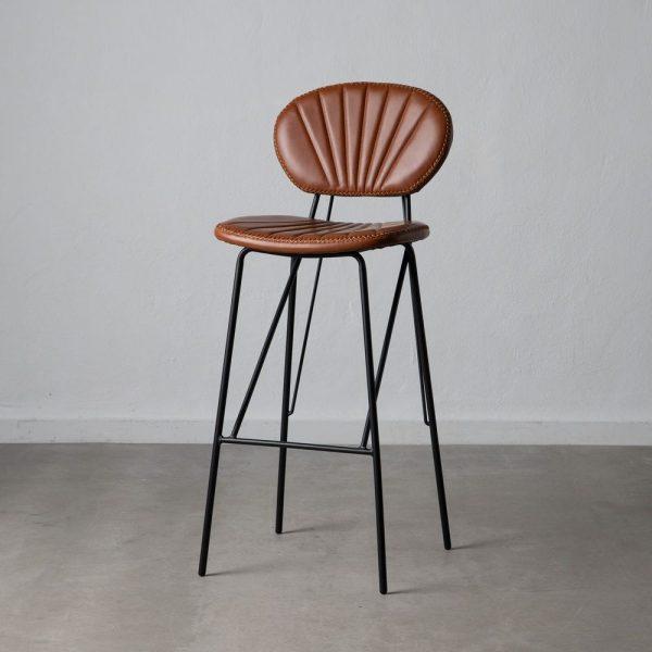 כיסא בר דמוי עור חום - JANGO
