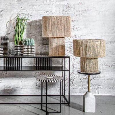מנורה שולחן מראטן בסגנון בוהו - BALI