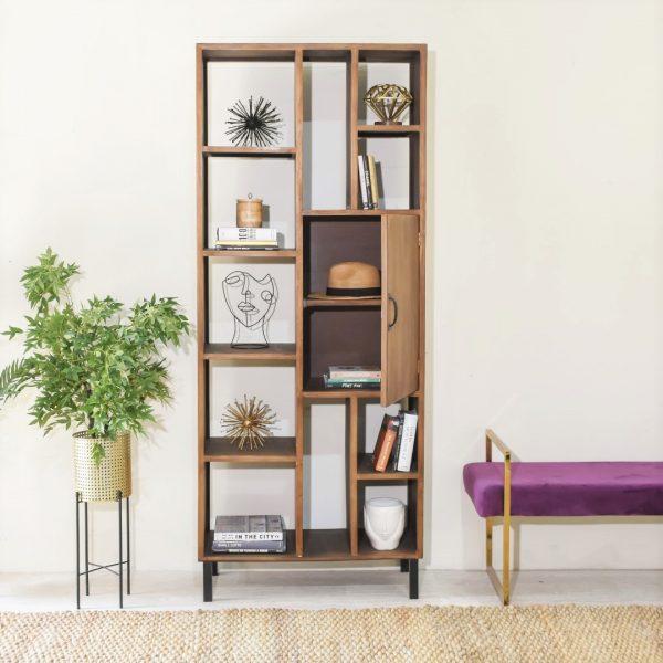 ספריית עץ מעוצבת - CARLA