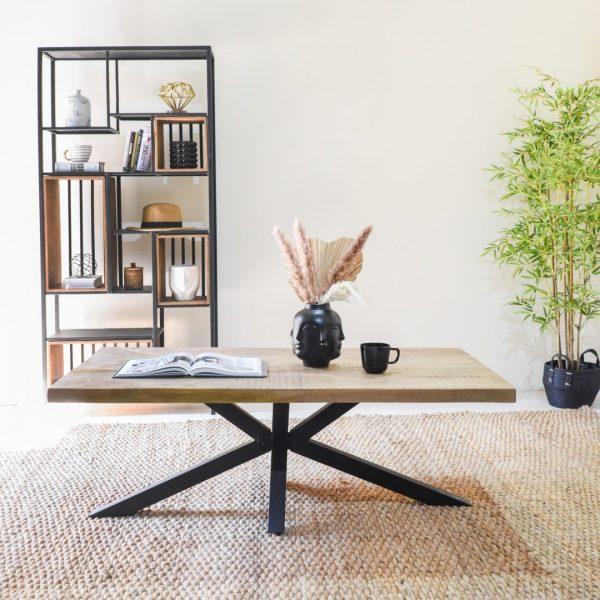 שולחן סלון מלבני מעץ מלא - POLPO