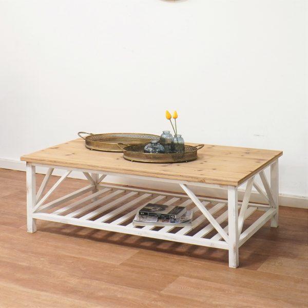 שולחן סלון לבן מעץ - BLANCA