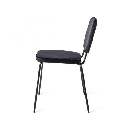 כיסא בד בשילוב מתכת - ROY שחור