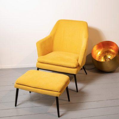 כורסא + הדום - JANE צהוב