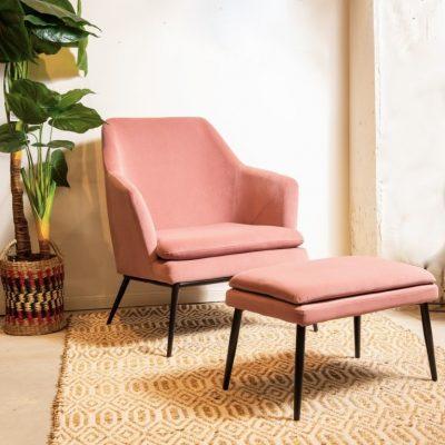כורסא + הדום - JANE ורוד