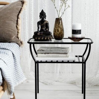 שולחן צד/שידה - ALICE שחור