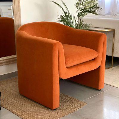כורסא מודרנית בצבע כתום - IDOL