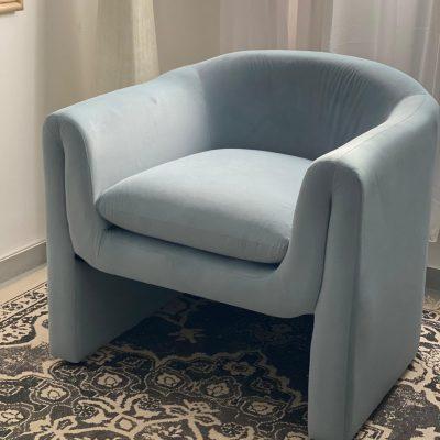 כורסא מודרנית בצבע תכלת - IDOL